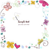 Abstract decorative summer greeting card Stock Photo
