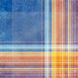 Abstract decorative texture. Abstract decorative blue, violet and orange check texture stock illustration
