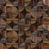 Abstract decorative texture - seamless background - Ebony wood Royalty Free Stock Images
