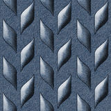 Abstract decorative texture - seamless pattern - blue jeans Royalty Free Stock Images