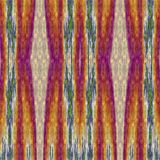 Abstract decorative tile with strip patterns in autumn colors. Computer generated image Vector Illustration
