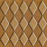 Abstract decorative tiles - seamless background - leather texture Royalty Free Stock Image