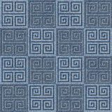 Abstract decorative tiles - seamless pattern - Blue denim jeans Stock Image
