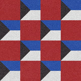 Abstract decorative tiles - seamless pattern - red-blue national Stock Image