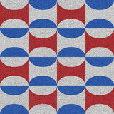 Abstract decorative tiles - seamless pattern - red-blue national Royalty Free Stock Images