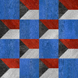 Abstract decorative tiles - seamless pattern - red-blue national Stock Photos
