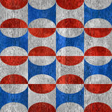 Abstract decorative tiles - seamless pattern - red-blue national Stock Photo