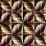 Abstract decorative tiles stacked for seamless background Stock Image