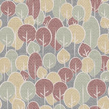 Abstract decorative trees - seamless background. Cloth paneling Stock Photography