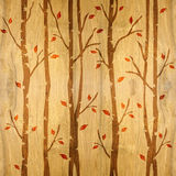 Abstract decorative trees - seamless background - wood texture Stock Images