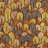 Abstract decorative trees - seamless background - wooden surface. Abstract decorative trees - seamless background - wooden texture Stock Photos