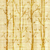 Abstract decorative trees - seamless pattern - papyrus texture Stock Image