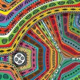 Abstract decorative tribal texture Royalty Free Stock Photo