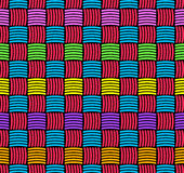 Abstract decorative weaved seamless background. Royalty Free Stock Photos