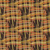 Abstract decorative wooden striped textured basket weaving background. Seamless pattern. Vector. Stock Image