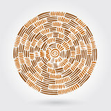 Abstract decorative wooden striped textured weaving. Vector doodle Stock Photo