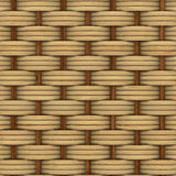 Abstract decorative wooden textured basket weaving. 3D image Stock Photography