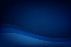 Abstract deep blue background curve and overlap layer with basic. Simply geometry vector illustration Stock Image