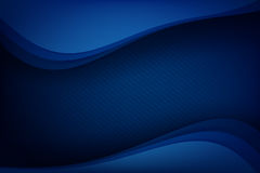 Abstract deep blue background curve and overlap layer with basic. Simply geometry vector illustration Stock Images
