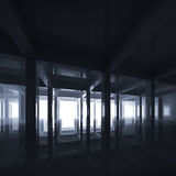 Abstract deep blue modern interior Stock Images