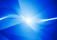 Abstract deep blue tech wavy background Stock Images