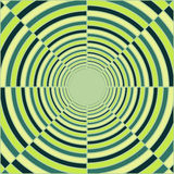 Abstract deep green tube, light at end of tunnel. Spring theme, vector background Stock Photography
