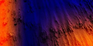 Abstract deep navy blue color orange color mixture with cement texture background.