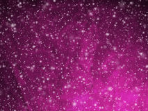 Abstract deep pink Christmas background with falling snow Royalty Free Stock Photos