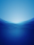 Abstract deep water waves. With a mystical light Stock Image