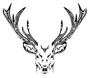 Abstract deer head tribal tattoo Royalty Free Stock Image