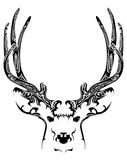 Abstract deer head tribal tattoo Stock Photography