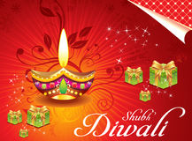 Abstract deewali background with girt box. Vector illustration Royalty Free Stock Images
