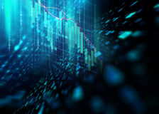 Abstract defocus digital technology background. Represent big data and digital Stock Photography