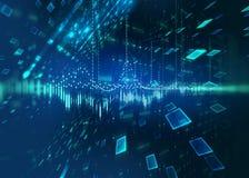 Abstract defocus digital technology background. Represent big data and digital communication technology concept stock illustration