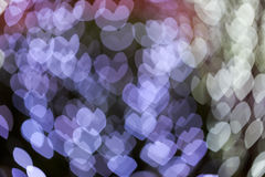 Abstract defocus heart shape light bokeh background Stock Image