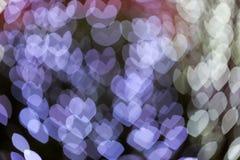 Abstract defocus heart shape light bokeh background Stock Image