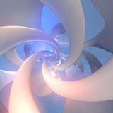 Abstract defocused background with smooth lines 3d rendering. Abstract white defocused background with smooth lines 3d rendering stock illustration
