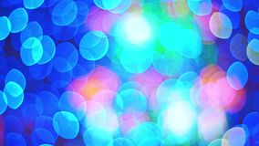 Abstract defocused blue and red bokeh, light leak.