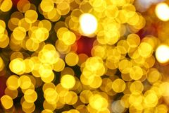 Abstract defocused blurred bokeh gold background. Christmas Stock Image