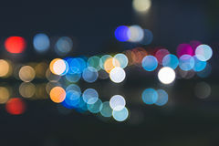 Abstract defocused bokeh night Stock Photos