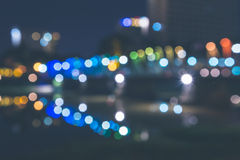 Abstract defocused bokeh night Royalty Free Stock Photography