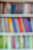 Abstract defocused bookshelf Stock Photo