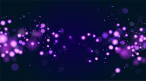 Abstract defocused circular bokeh sparkle glitter lights layout. Magic christmas background. Elegant, shiny, blue. Blurred background. EPS 10 vector illustration