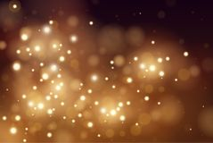 Abstract defocused circular golden luxury gold glitter bokeh lights background. Magic background. EPS 10. Holiday. Background. Golden explosion of confetti Stock Images