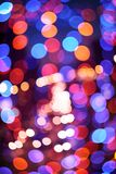 Abstract defocused color lights Stock Photography