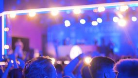 Abstract defocused concert background stock video
