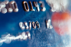 Abstract defocused credit card Royalty Free Stock Photography