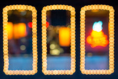 Abstract Defocused Frame Lights Royalty Free Stock Photo