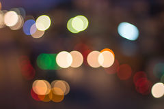Abstract defocused lights bokeh as light car on road background Stock Image