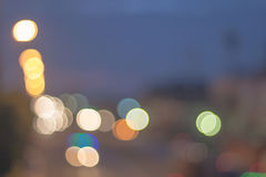 Abstract defocused lights bokeh as light car on road background Royalty Free Stock Image
